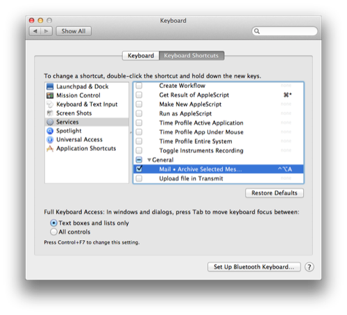 Mac Productivity: Quick Scripts and Workflows - Archiving Selected