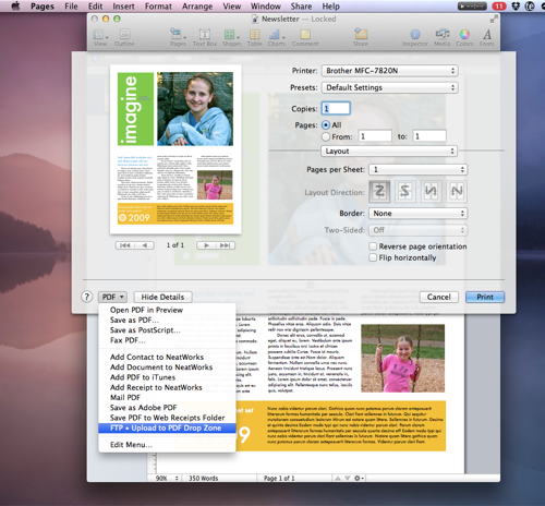 Mac Productivity: Quick Scripts and Workflows - Print PDF to FTP