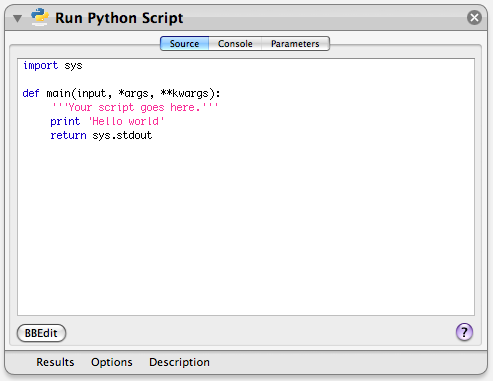 Extending Automator: Running AppleScript, Shell, Python, or Ruby