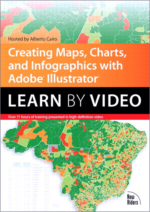 Creating Maps, Charts, and Infographics with Adobe Illustrator: Learn by Video