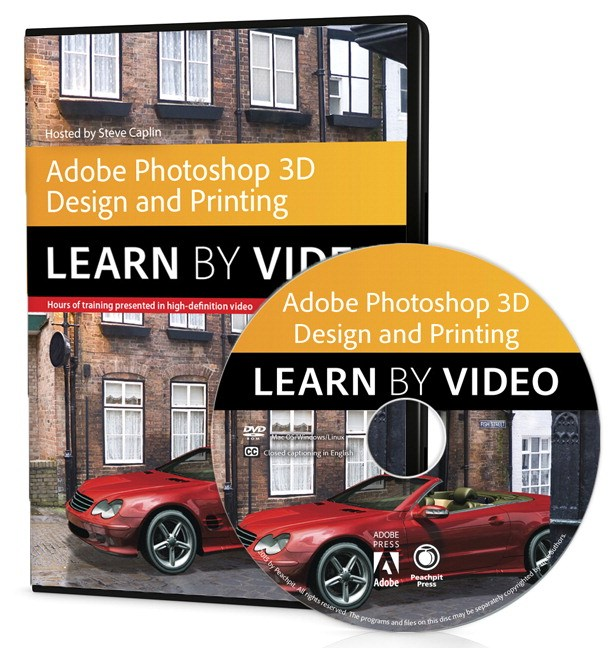 Adobe Photoshop for 3D Design and Printing: Learn by Video