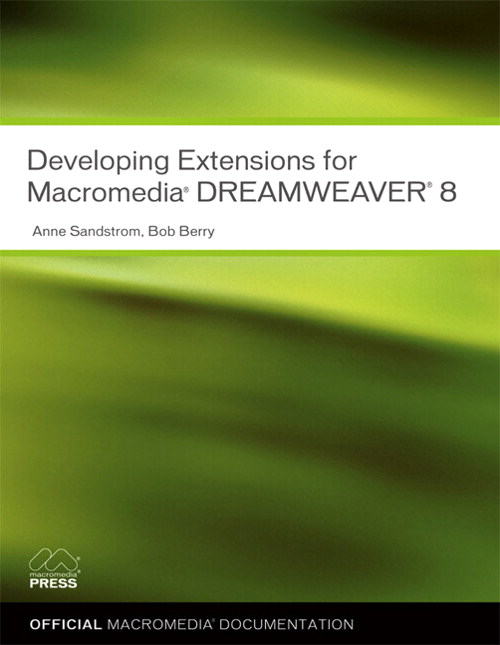 Developing Extensions for Macromedia Dreamweaver 8