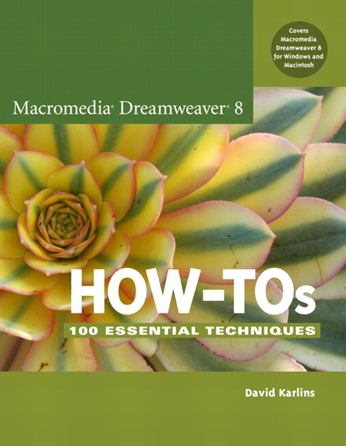 Macromedia Dreamweaver 8 How-Tos: 100 Essential Techniques, Adobe Reader
