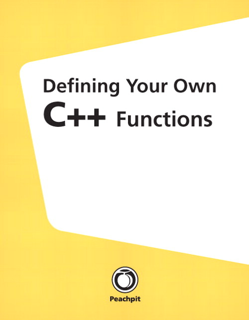 Defining Your Own C++ Functions