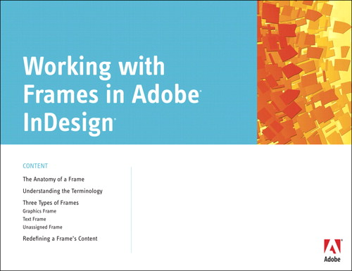 Working with Frames in Adobe InDesign