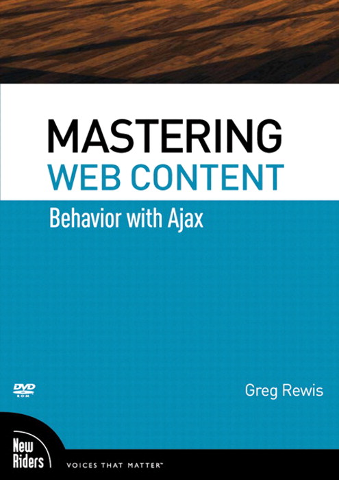 Mastering Web Content: Behavior with Ajax, DVD