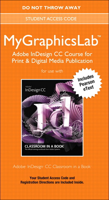 MyGraphicsLab Adobe InDesign CC Course for Print & Digital Media Publication