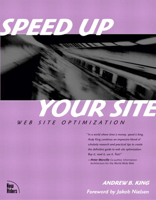 Speed Up Your Site: Web Site Optimization