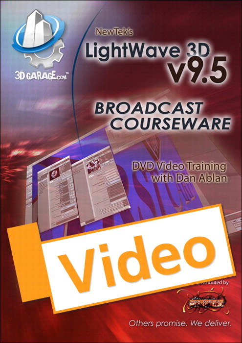 LightWave v9.5 Broadcast Courseware, Streaming Video