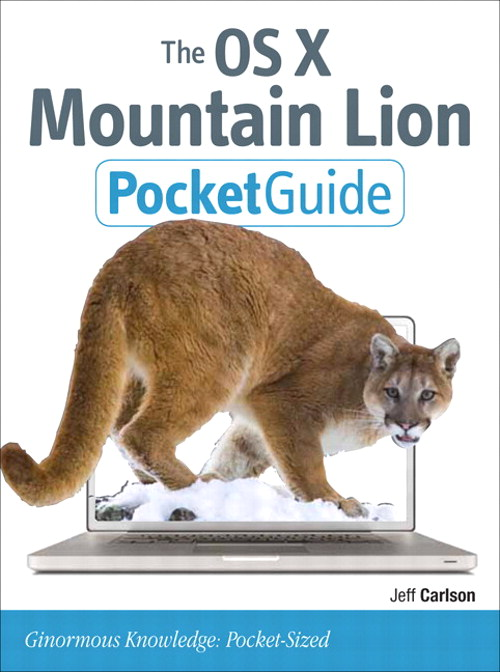 The OS X Mountain Lion Pocket Guide 9780133087093