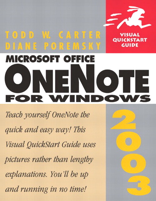Microsoft Office OneNote 2003 for Windows: Visual QuickStart Guide