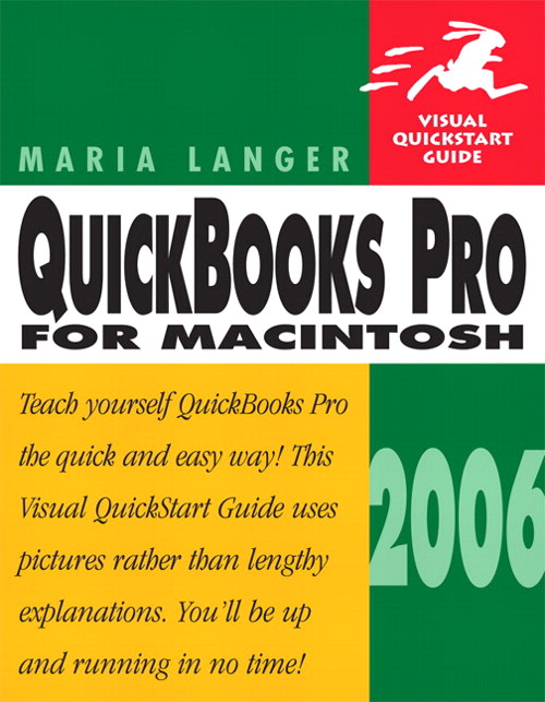 QuickBooks Pro 2006 for Macintosh: Visual QuickStart Guide