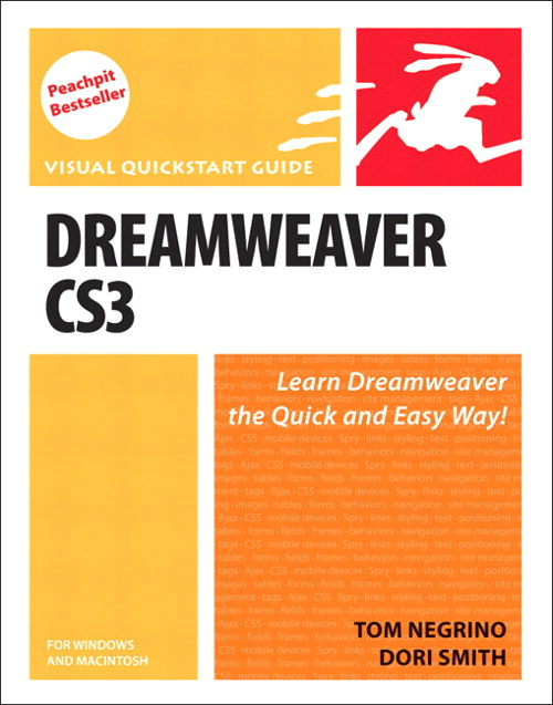 Dreamweaver CS3 for Windows and Macintosh: Visual QuickStart Guide