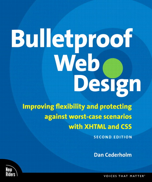 Bulletproof Web Design: Improving flexibility and protecting against worst-case scenarios with XHTML and CSS, Second Edition, Adobe Reader, 2nd Edition