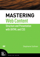 Mastering Web Content: Structure and Presentation with XHTML and CSS, DVD