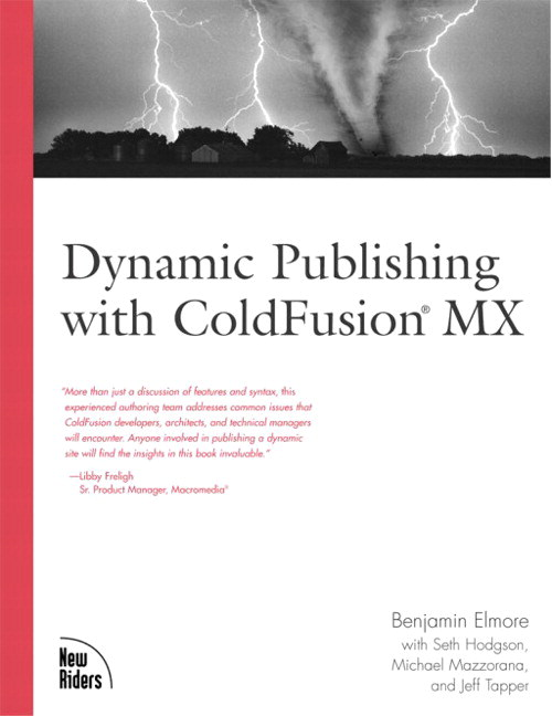 Dynamic Publishing with ColdFusion MX