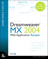 Macromedia Dreamweaver MX 2004 Web Application Recipes