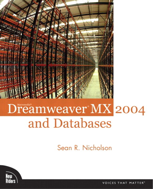 Macromedia Dreamweaver MX 2004 and Databases